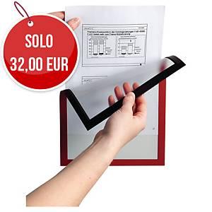 Cornice magnetica con pannello Durable Duraframe® A4 rosso conf. 5