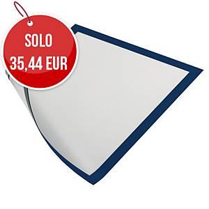 Cornice magnetica con pannello Durable Duraframe® A4 blu - conf. 5