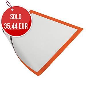 Cornice magnetica con pannello duraframe Durable A4 arancione - conf. 5