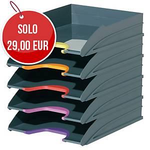 Set vaschette portacorrispondenza Durable Varicolor ABS - conf. 5