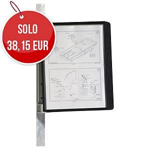 Leggio murale magnetico Durable VARIO 5 pannelli nero
