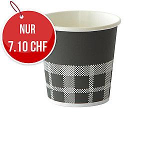 Becher Izza Duni 12 cl, schwarz, Packung à 45 Stück