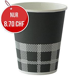 Becher Izza Duni 24 cl, schwarz, Packung à 40 Stück