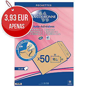 Pack de 50 envelopes La Couronne C4 229x324 90g creme