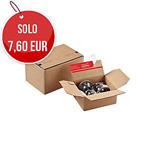 CONF. 10 SCATOLE POSTALI CON VANO PORTALETTERE 159x129x70MM COLOMPAC