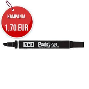 Pentel N60 huopakynä viisto 1-5mm permanent musta