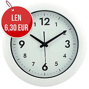 Nástenné hodiny Alba Easy Time, farba biela