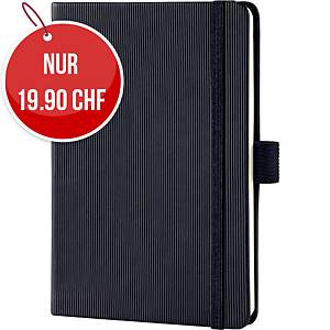 Notizbuch Sigel Conceptum A6, Hardcover, liniert, 194 Blatt, schwarz