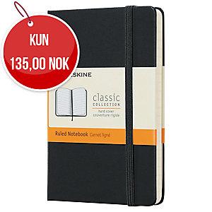 Classic Notebook Moleskine Pocket linjert hard cover 9 x 14 cm sort