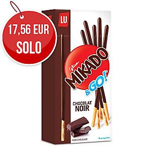 Caja de 24 cajitas de palitos cubiertos con chocolate MIKADO LU de 39g