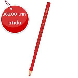 MITSUBISHI ดินสอเขียนกระจก 7600 แดง กล่อง 12 แท่ง