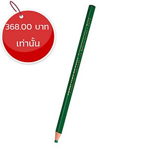 MITSUBISHI ดินสอเขียนกระจก 7600 เขียว กล่อง 12 แท่ง