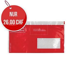 Dokumententasche Elco Vitro, C5/6, Fenster rechts, rot, Packung à 250 Stück