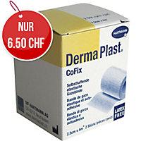 DermaPlast CoFix Fixierbinde, 2,5 cm x 4 m, weiss, Packung à 2 Rollen