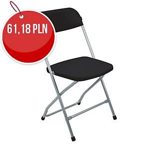Krzesło NOWY STYL Medina, czarne, składane