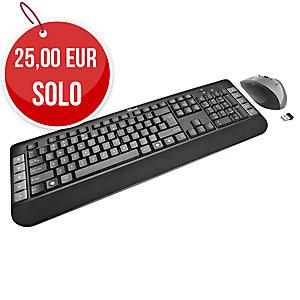 Conjunto de teclado y ratón inalámbricos TRUST Wireless multimedia