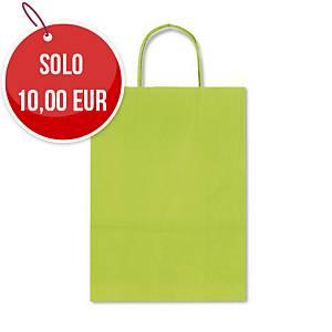 Sacchetto in carta Rex Sadoch 22x27x10 cm verde - Conf. 25