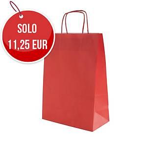 Sacchetto in carta Rex Sadoch 26X36X12 cm rosso - Conf. 25