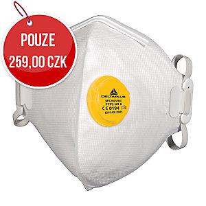 FFP2 skládací respirátor s ventilem, balení 10 kusů