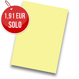 Pack de 50 cartulinas FABRISA A4 180g/m2 color amarillo