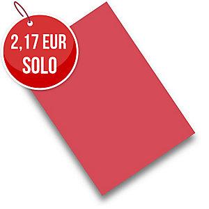 Pack de 50 cartulinas FABRISA A4 180g/m2 color rojo