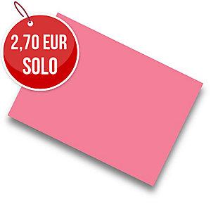 Pack de 50 cartulinas FABRISA A4 180g/m2 color fucsia