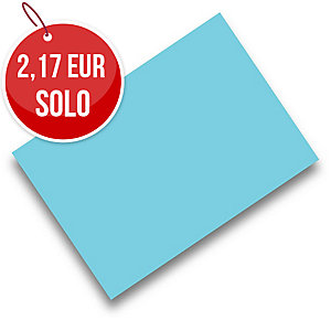 Pack de 50 cartulinas FABRISA A4 180g/m2 color turquesa