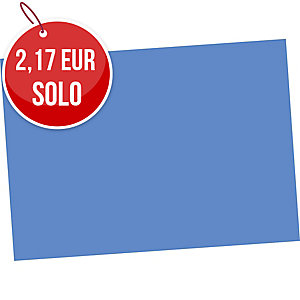 Pack de 50 cartulinas FABRISA A4 180g/m2 color azul oscuro