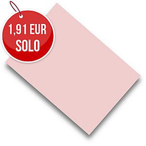 Pack de 50 cartulinas FABRISA A4 180g/m2 color rosa