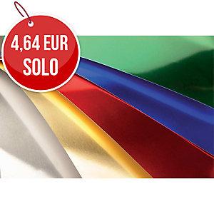 Pack de 10 cartulinas SADIPAL 50X65 225g/m2 color plata