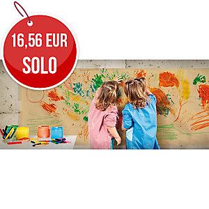 Rollo de papel kraft extra verjurado 65 g/m2 1x50m rojo