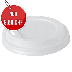 Becherdeckel für Thermobecher Eco 24 cl, weiss, Packung à 40 Stück