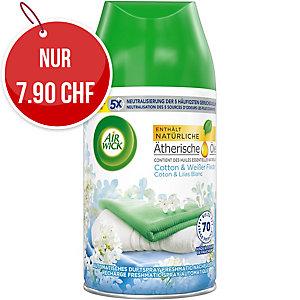 Raumerfrischer Air Wick Freshmatic Cotton & Weisser Flieder, Nachfüller à 250 ml