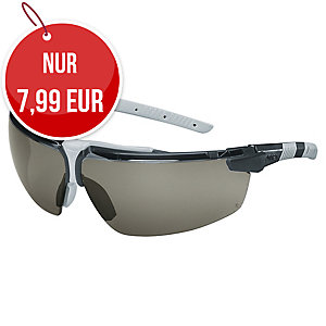 Uvex I-3 Sicherheitsbrille, schwarz/ hellgrau