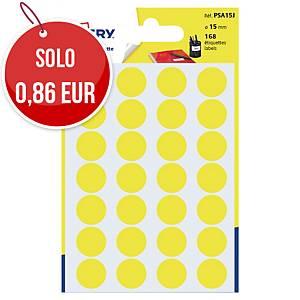 Etichette colorate Avery rotonde Ø 15 mm giallo - conf.168