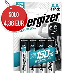 Batterie alcaline Max Plus Energizer AA stilo - conf. 4