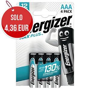 Batterie alcaline Max Plus Energizer AAA ministilo - conf. 4