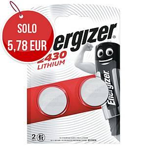 Batterie al litio Energizer specialistiche CR2430 3V - conf.2