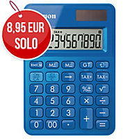 Calculadora de bolsillo CANON LS-100K de 10 dígitos color azul