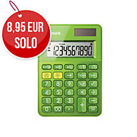 Calculadora de bolsillo CANON LS-100K de 10 dígitos color verde
