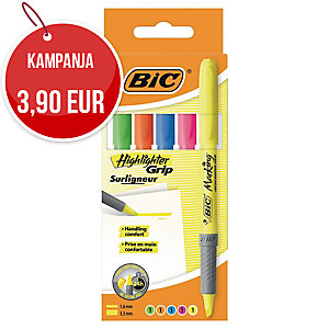 Bic grip korostuskynä viisto 1,6-3,3mm värilajitelma, myyntierä 1 kpl = 5 kynää