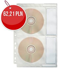 Kieszeń na 4 CD/DVD ESSELTE, 10 sztuk