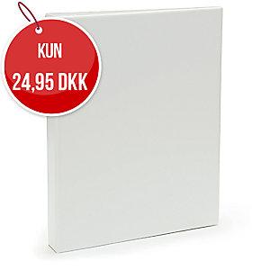 Præsentationsringbind Plast Petter, 40 mm, hvid