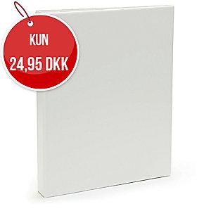 Præsentationsringbind Plast Petter, 25 mm, hvid