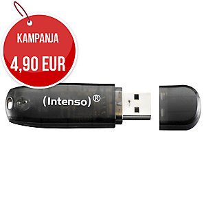 Intenso rainbow line USB 2.0 muisti 16GB musta