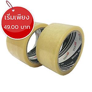 THAI KK เทปปิดกล่อง OPP กาวยางธรรมชาติ ขนาด 2 นิ้ว X 100 หลา แกน 3 นิ้ว สีใส
