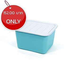 1556 Plastic Storage Box 15 Litres Assorted Opaque Colours
