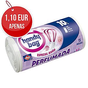 Rolo de 15 bolsas de lixo de 10 litros HANDYBAG 450x450mm perfumadas blancas