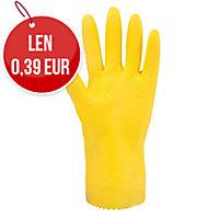 Latexové rukavice na upratovanie, farba žltá, 1 pár, veľkosť M