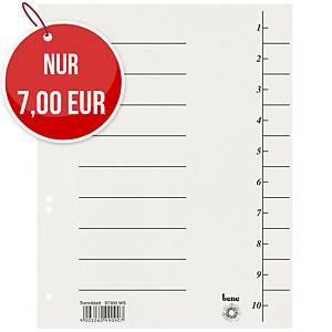 Bene 97300 Trennblätter A4, 250 g, weiß, 100 Stück